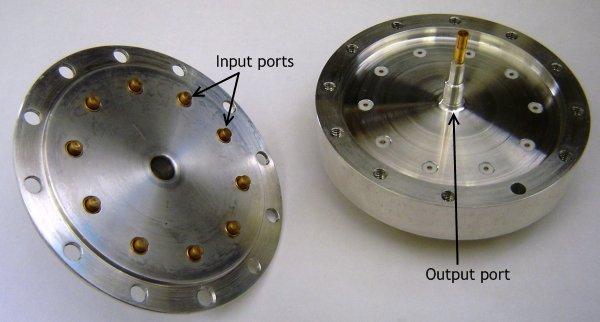 بهینهسازی یک ترکیبکننده توان مخروطی ۱۰ پورتی با CST MWS