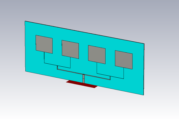 دانلود: فایل شبیه سازی آنتن آرایه پچ مایکرواستریپ Nx1
