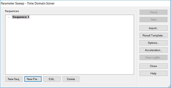 پنجره سوییپ پارامتری