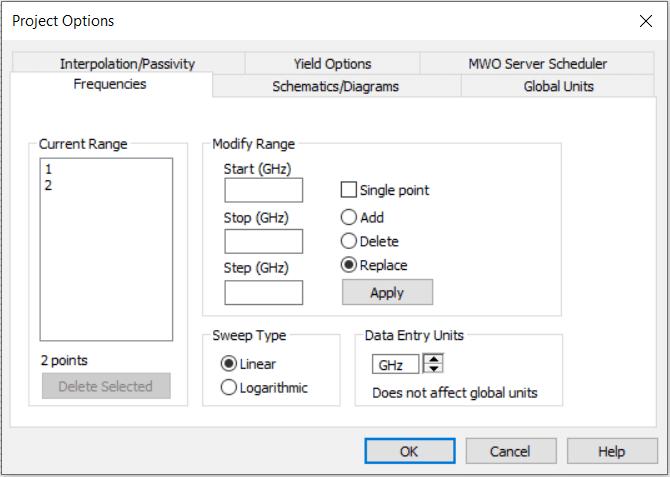 تنظیمات پروژه در نرمافزار AWR